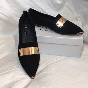Céline black flats.